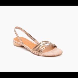 Coclico Fizz Sandals Metallic Rose gold Sz38.5